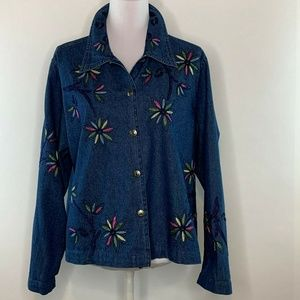 Studio Works Jackets & Coats - Studio Works Womens Denim Blouse Jacket Plus Size